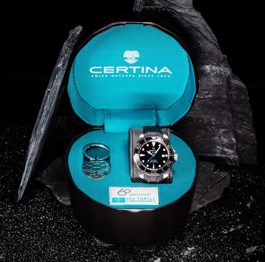 Certina DS Action Diver Sea Turtle Conservancy 60th Anniversary Full Box