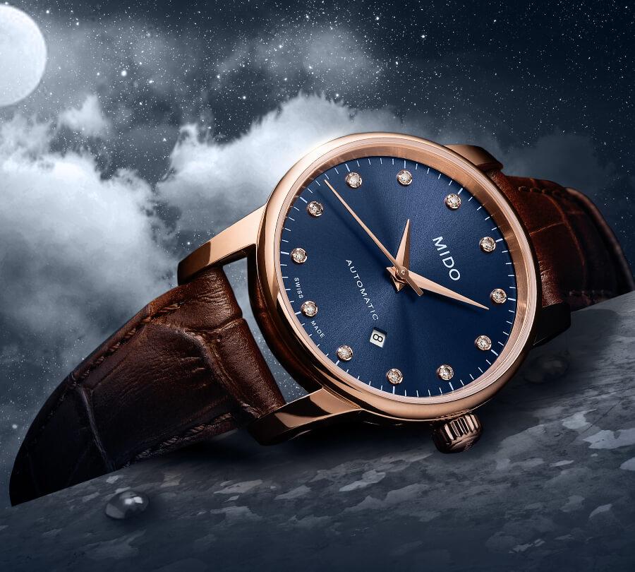 Mido Baroncelli Midnight Blue Diamond Watch
