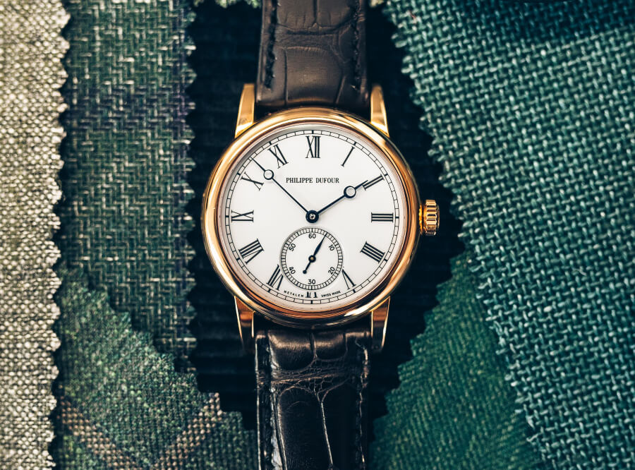Philippe Dufour Simplicity 37mm Rose Gold with White lacquer dial