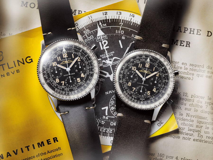 Breitling Navitimer Ref 806 1959 Re-Edition and the historical Navitimer Ref 806 from 1959