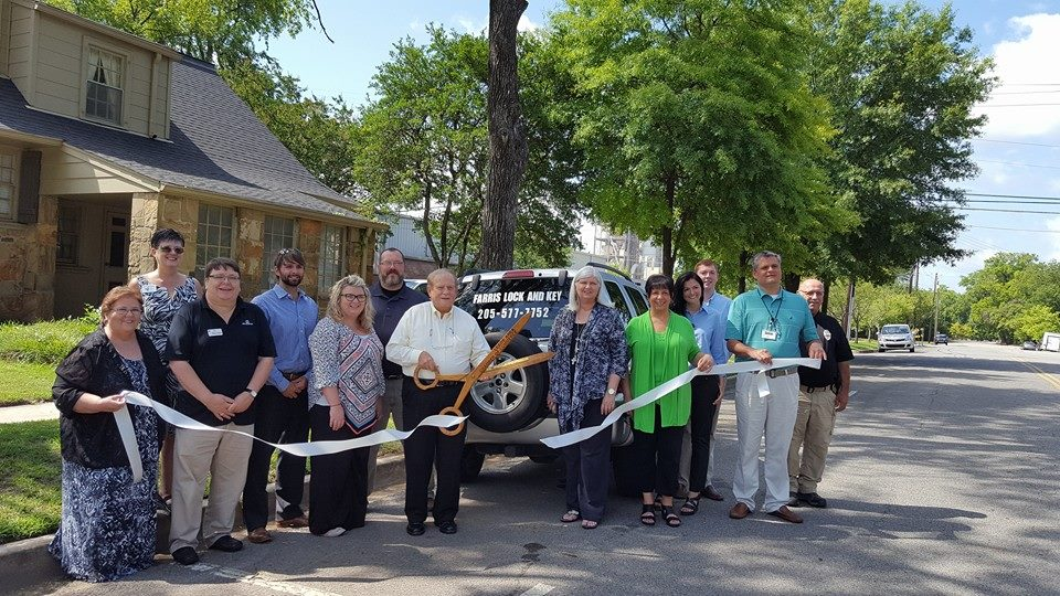 Farris Lock and Key Locksmith ribbon cutting