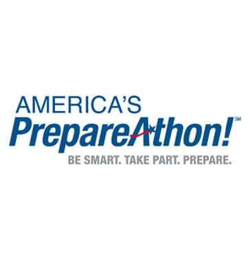 Prepareathon logo red white blue
