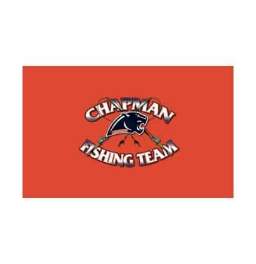 orange and black chapman fishing team logo