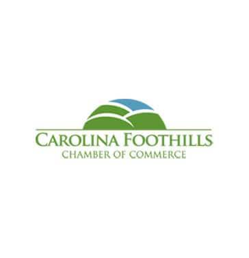 carolina foothills chamber logo green and blue