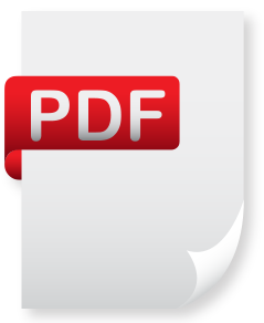 white pdf document with red ribbon