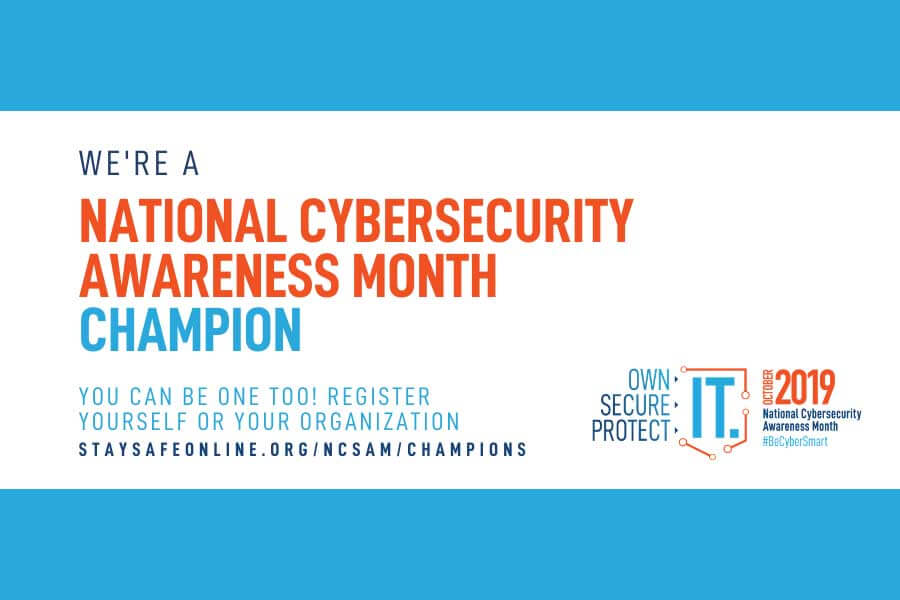 National Cybersecurity Awareness Month Logo 2019