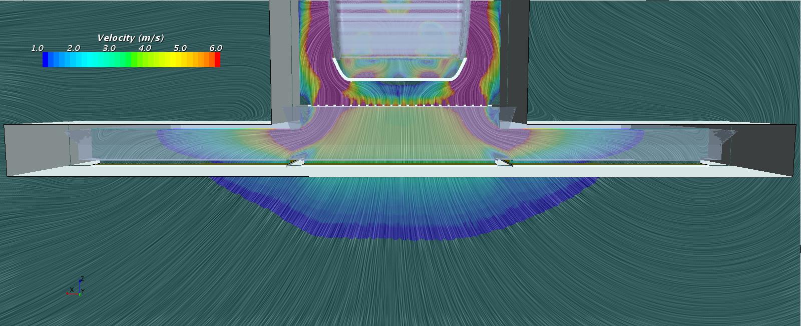 Strömungssimulation Dunstabzugshaube