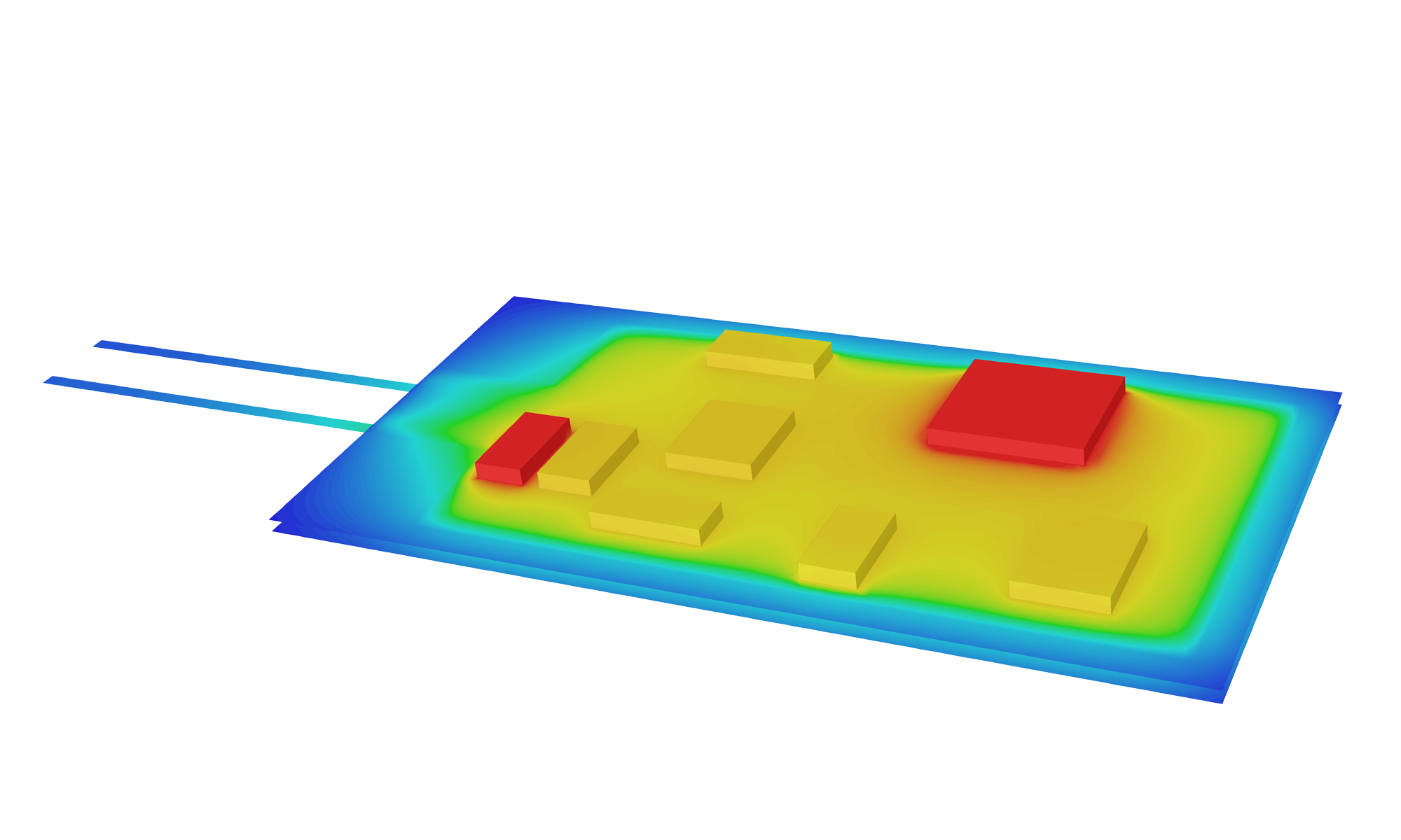 Ermittlung von Hotspots in einem Lichtschranken-Modul mittels Strömungssimulation