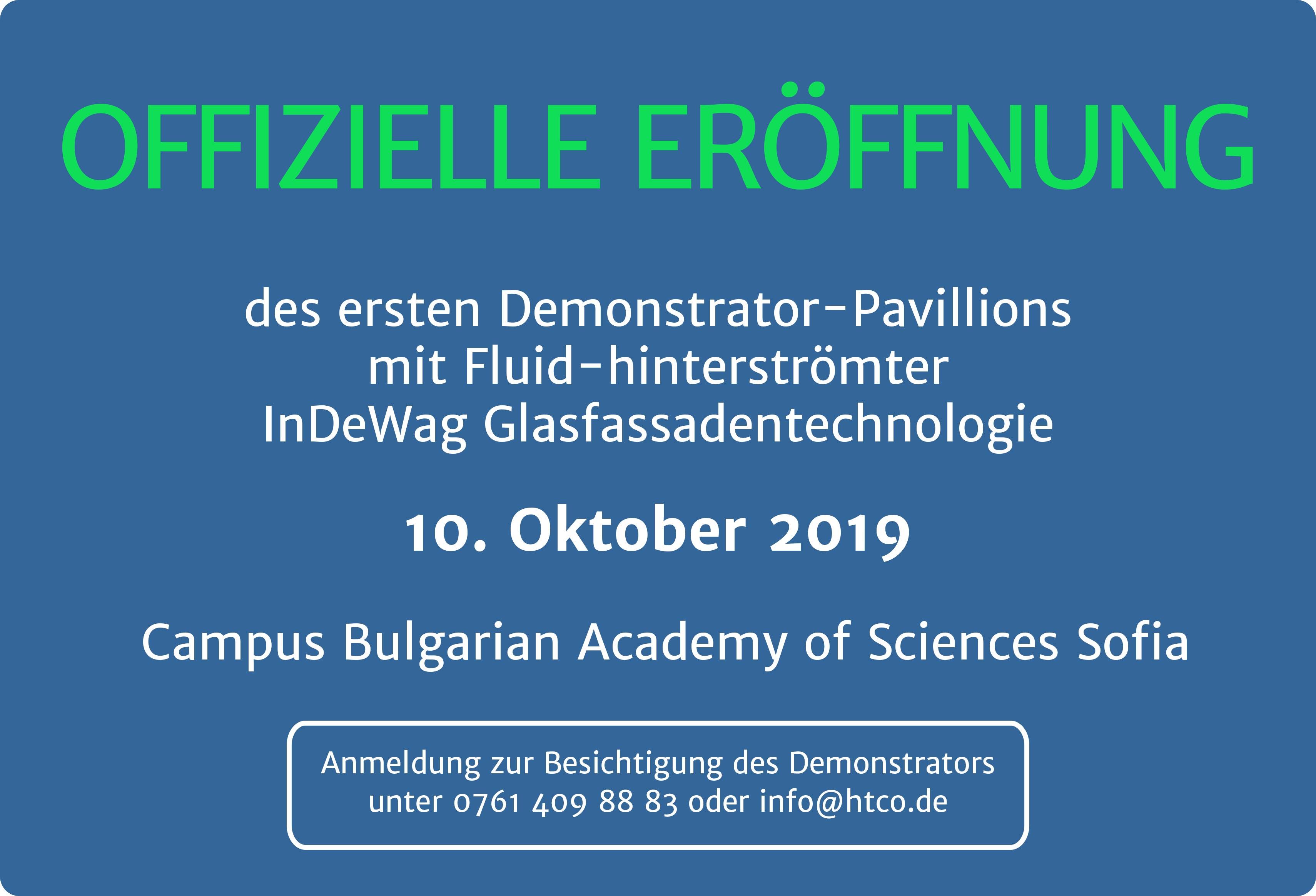 Eröffnung des InDeWag Glasfassaden-Pavillions am 10. Oktober 2019