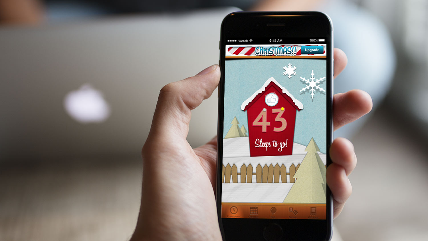 Christmas app for iphone, features a countdown of the number of sleeps until Christmas!