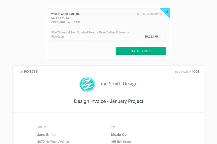 Send Beautiful, Branded Invoices And Get Paid Faster.  Website Invoice