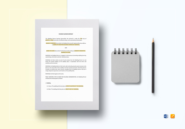 Example of contract
