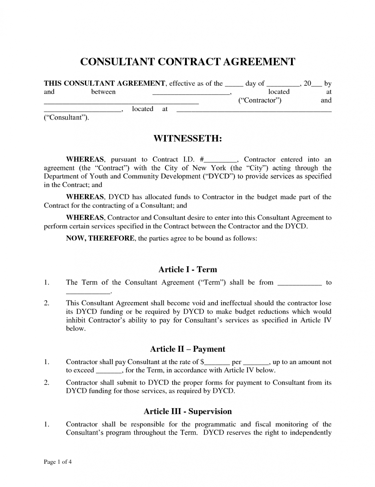 Consultant Contract Template | Get A Marketing Consultant Contract Template Bonsai