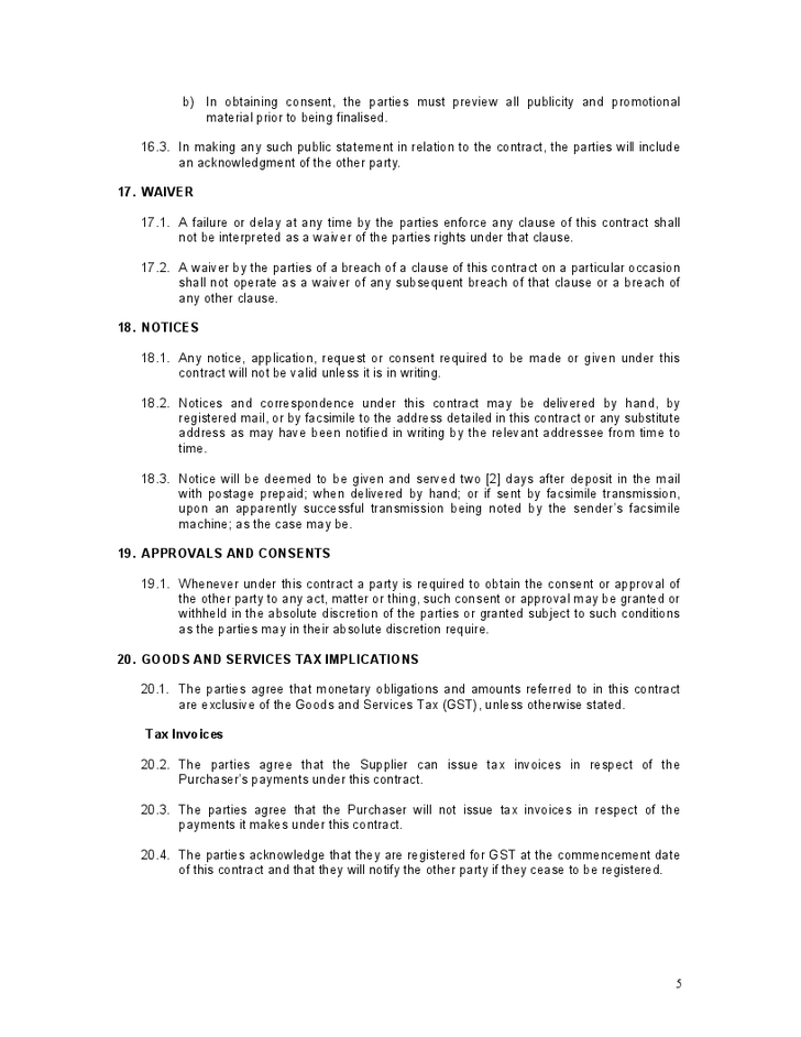 Download Freelance Public Relations Contract Template Bonsai
