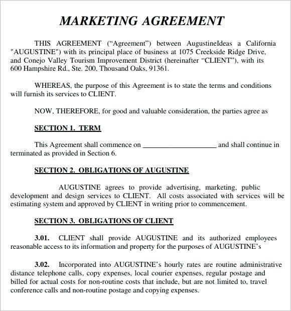 Download Marketing Agency Contract Template Bonsai