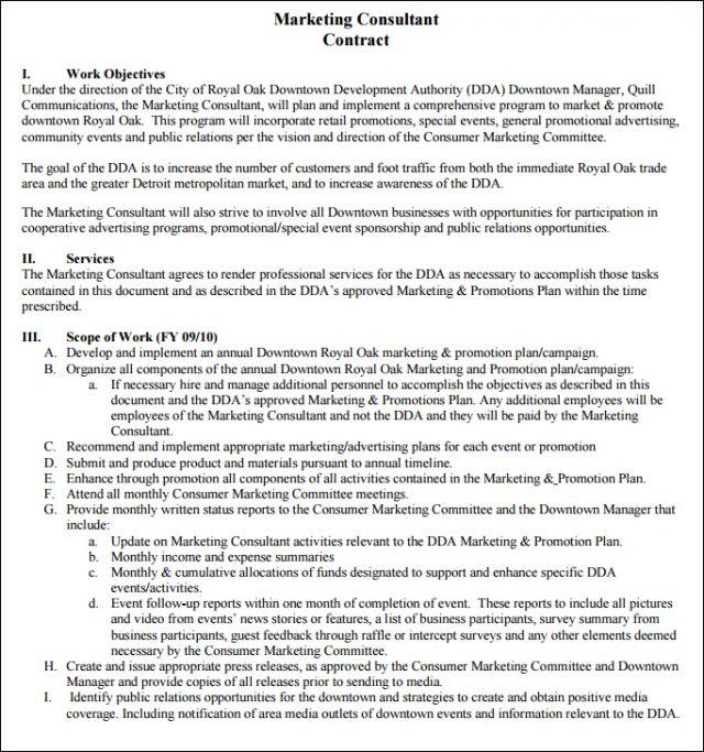 Customize and download a simple marketing contract bonsai image credits lifestylistadvisoryfo maxwellsz