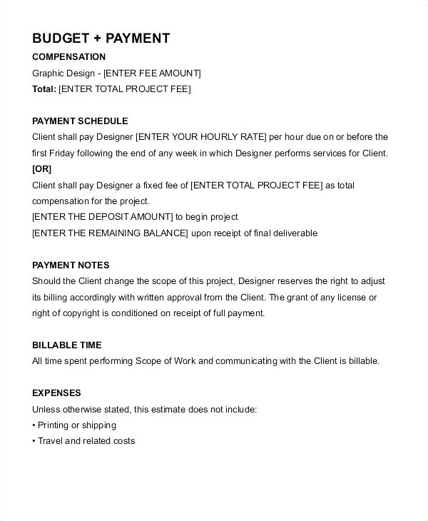 graphic design retainer contract template  download
