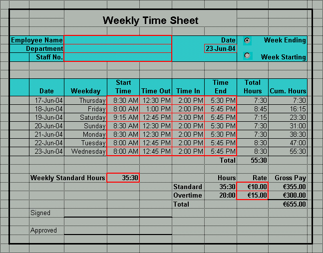 download time sheet template excel bonsai