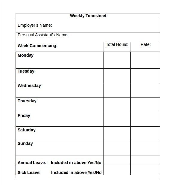 download  simple timesheet  template