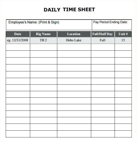 generate daily timesheet template bonsai