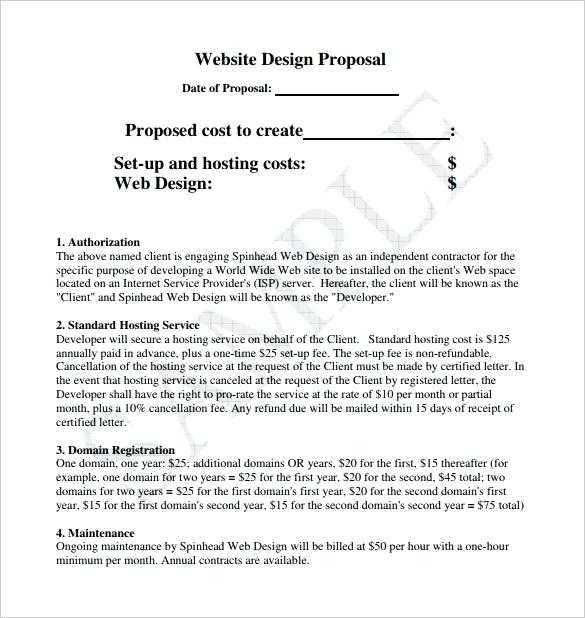 Craft And Download A Bulletproof Website Proposal Template Bonsai