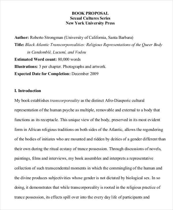 Generate And Download A Winning Book Proposal Template Bonsai