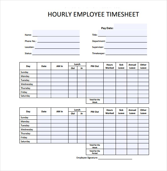 personalize and download an hourly timesheet bonsai