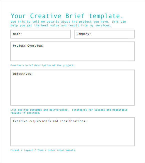Creative Strategy Brief Template