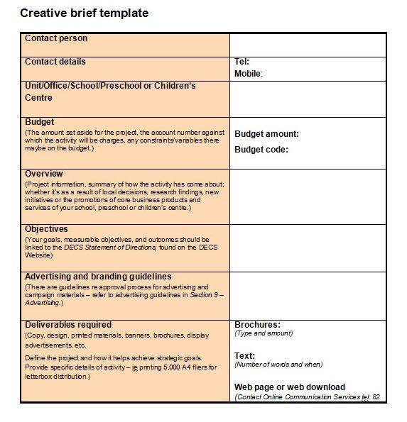 Download Brief Template Microsoft Word Bonsai