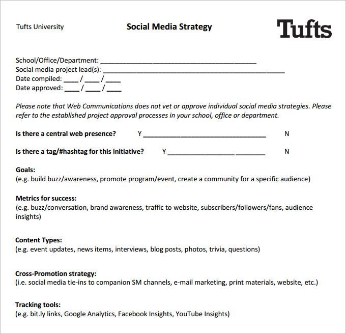 Social Media Brief Template