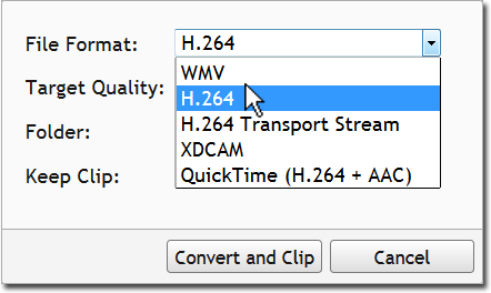 Transcode TV to WMV, H.264 and XDCAM