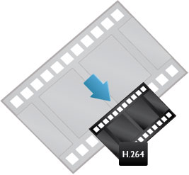 Transcoding to a smaller video size like H.26