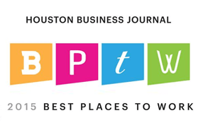 Houston Business Journal Best Places to Work Award