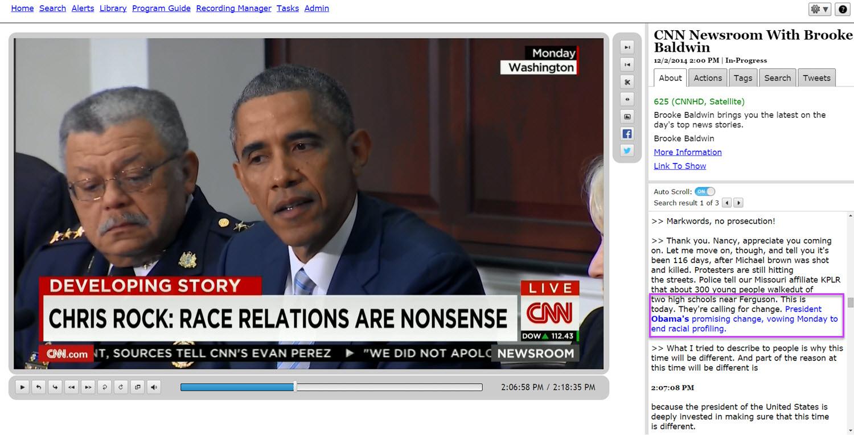 TV search for Obama