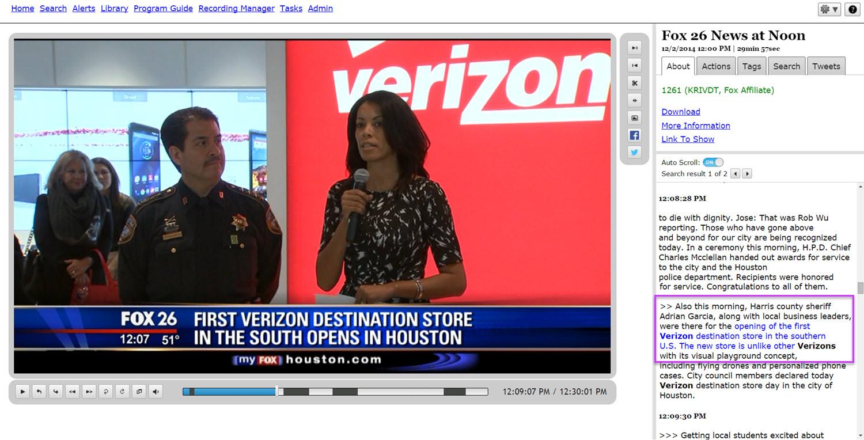 TV search for Verizon