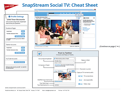 Social cheat sheet