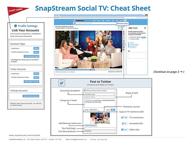 Social TV Cheat Sheet Page 1