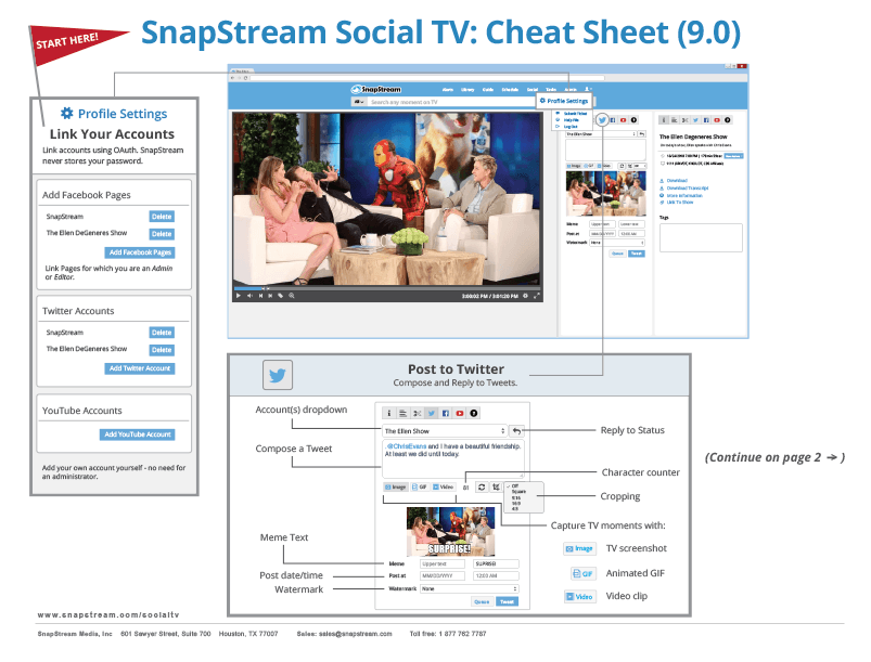 Social TV Cheat Sheet Page 1
