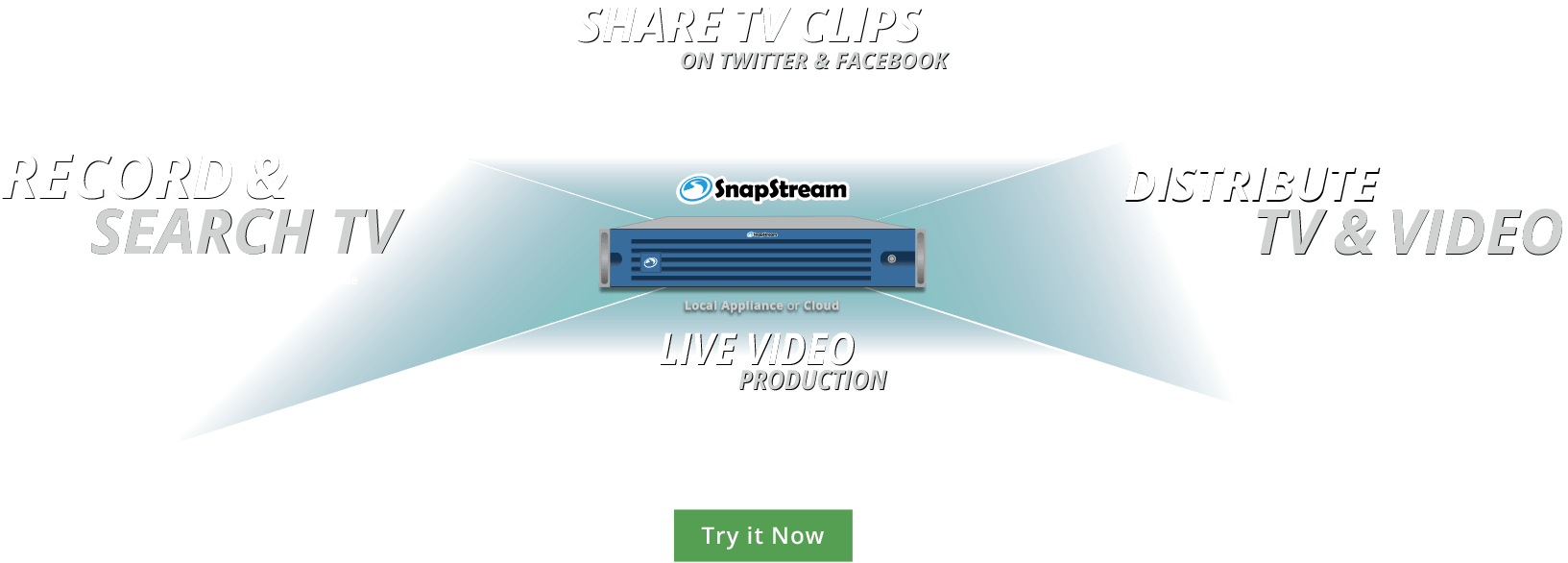 SnapStream: The DVR for Business, Share TV Clips on Twitter & Facebook, Distribute TV & Video and Live Video Production