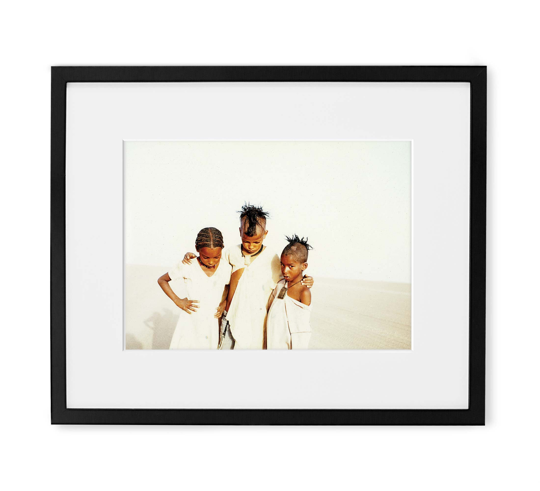 Desert Angels Framed Black Wood