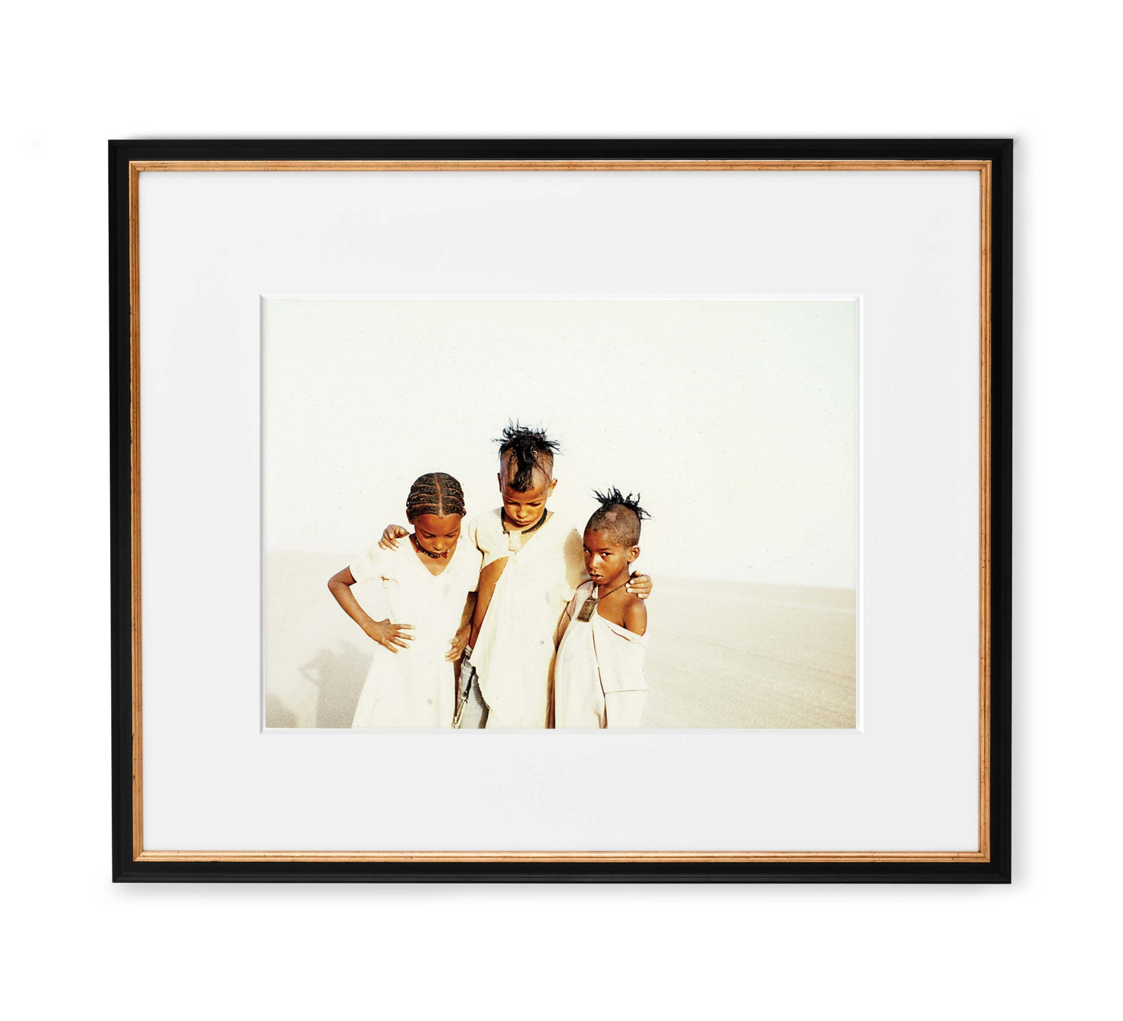 Desert Angels Framed Black and Gold Wood