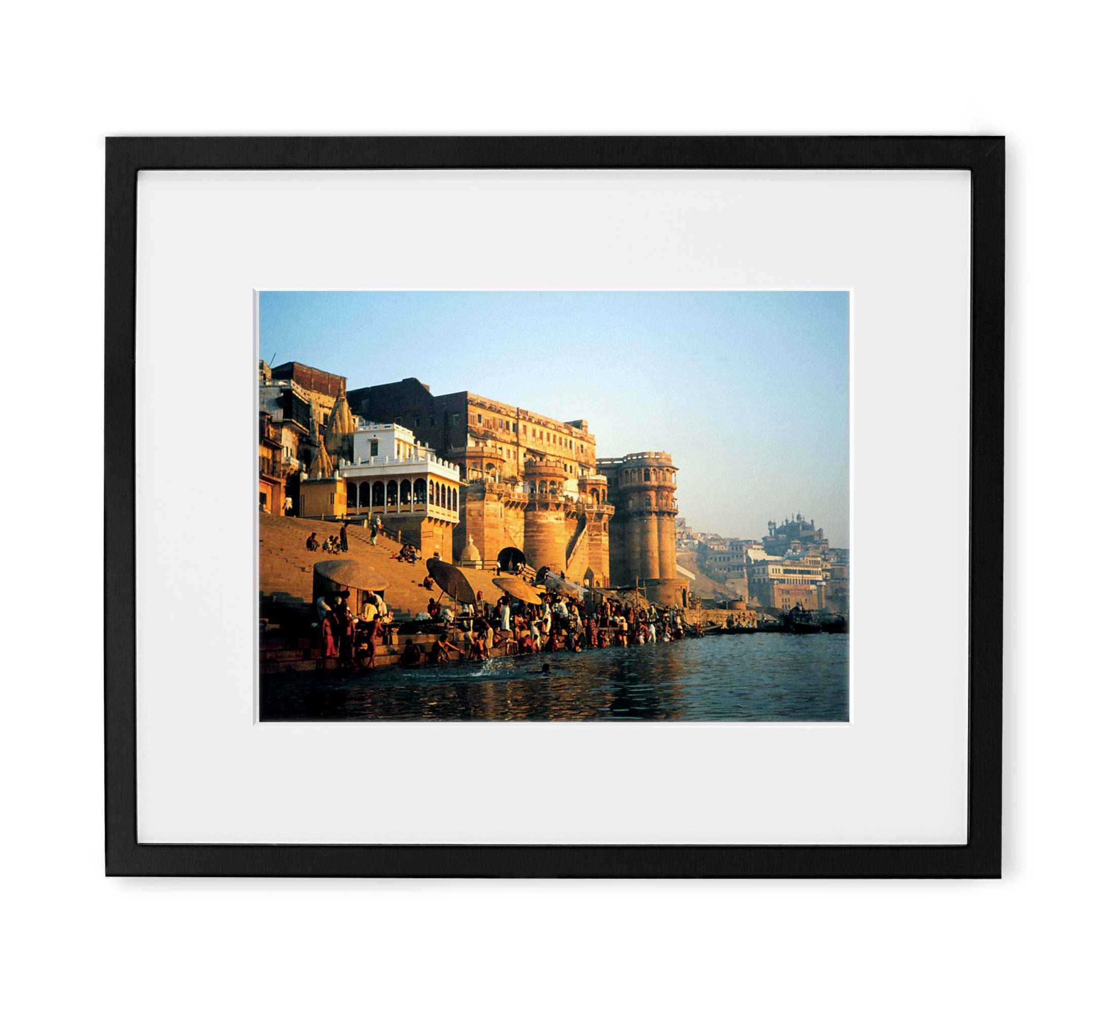 Golden Ganges Framed Black Wood