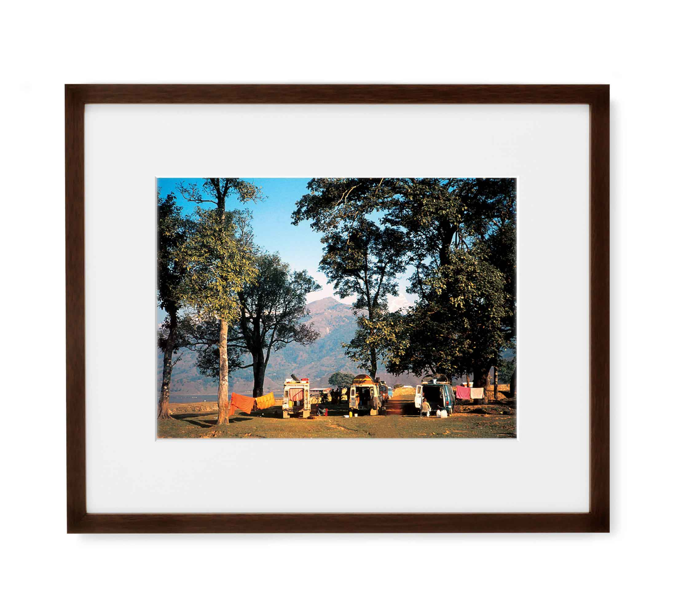 Himalayan Camp Framed Brown Wood