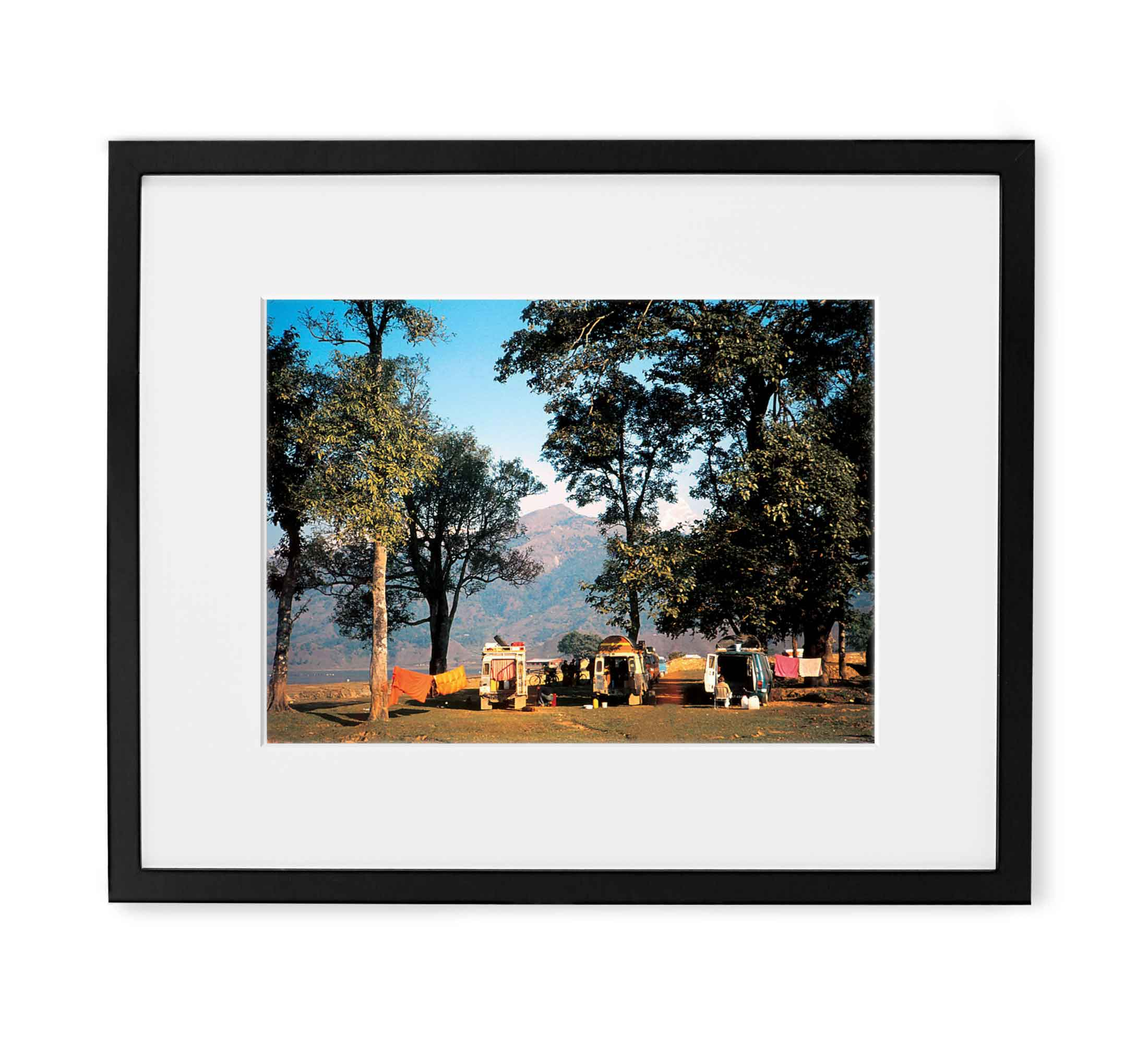 Himalayan Camp Framed Black Wood