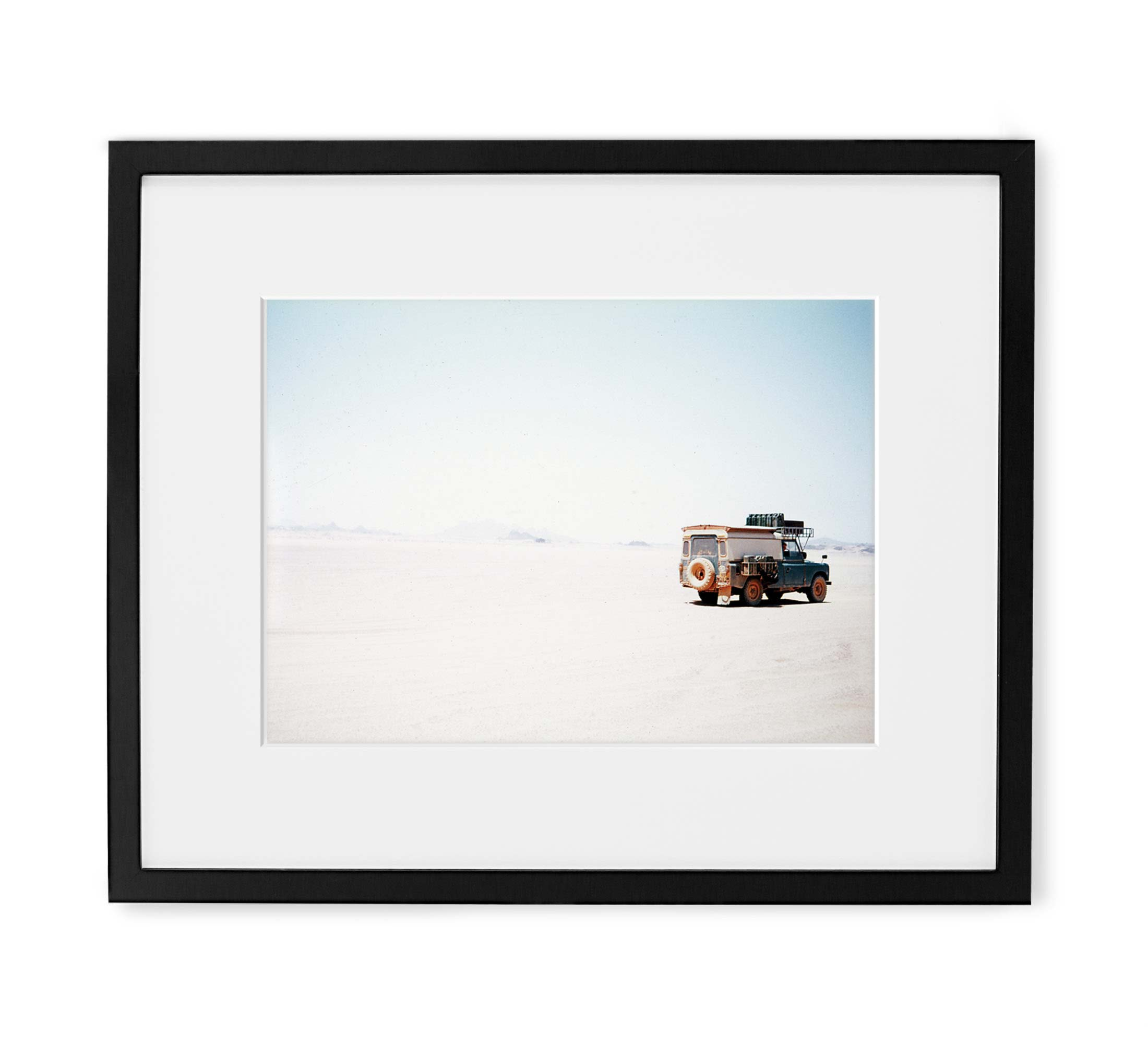 Secluded Sahara Framed Black Wood