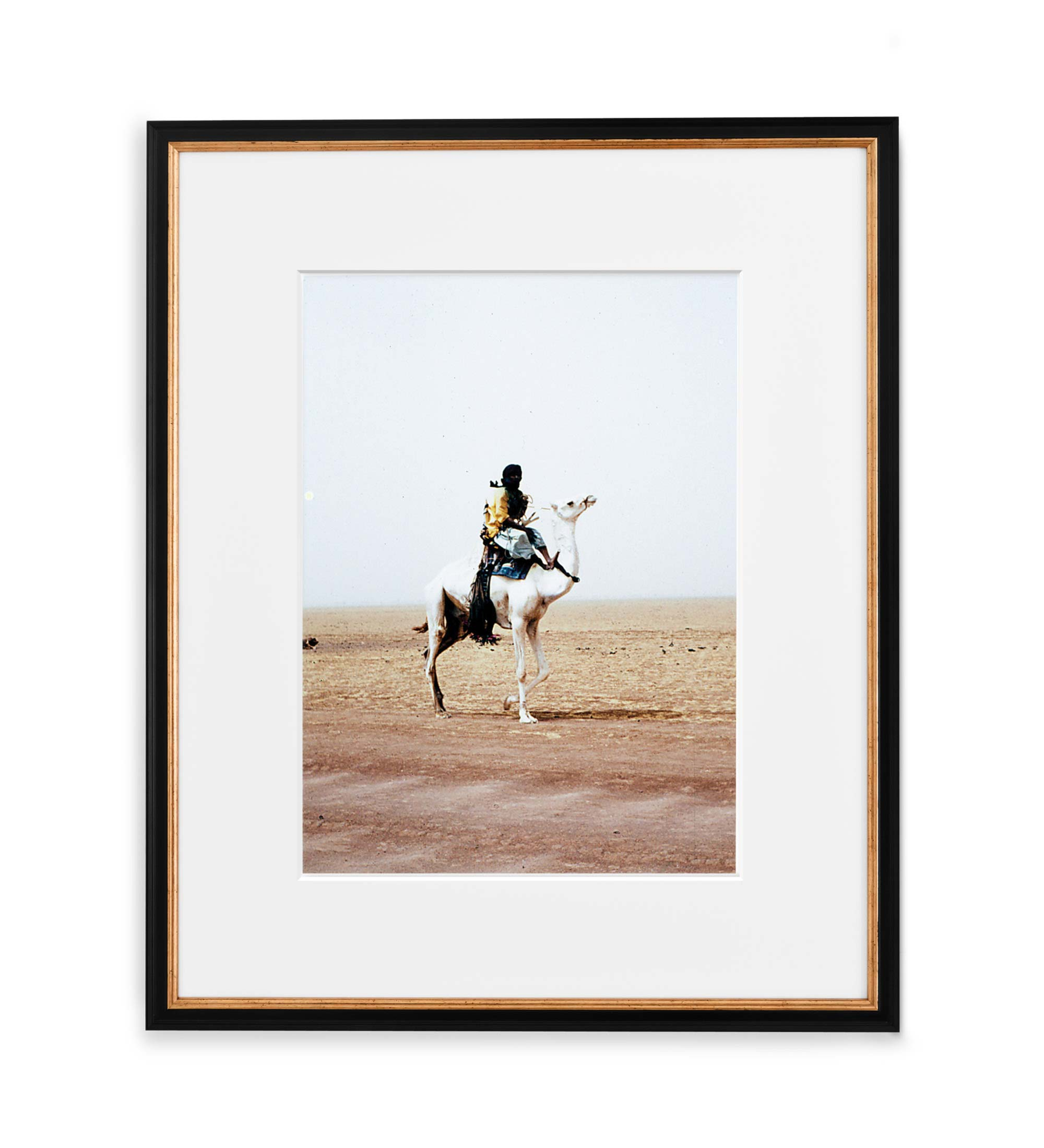 Tuareg Framed Black and Gold Wood