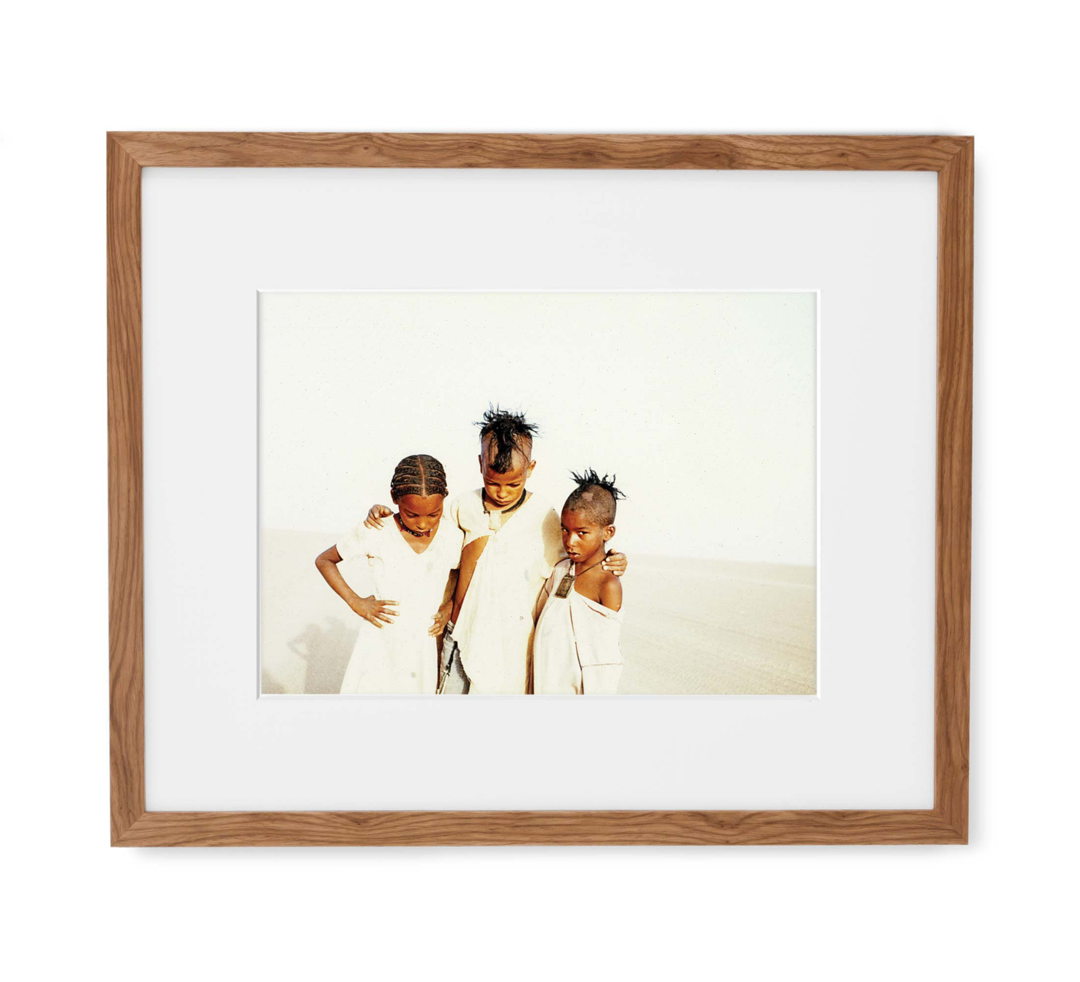 Desert Angels Framed Light Wood