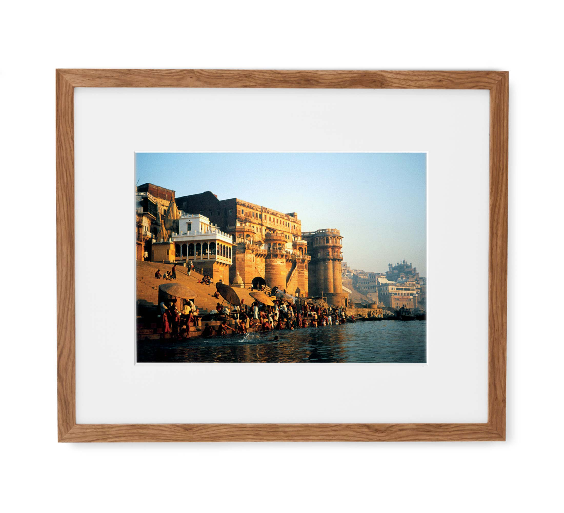 Golden Ganges Framed Light Wood