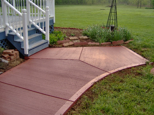 Either Method Will Work And Help To Set Your Decorative Concrete Apart From All Other Regular In The Area Colored Floated