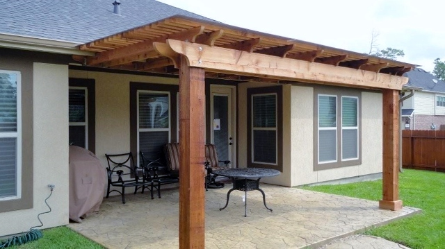 Cedar Pergola Attached